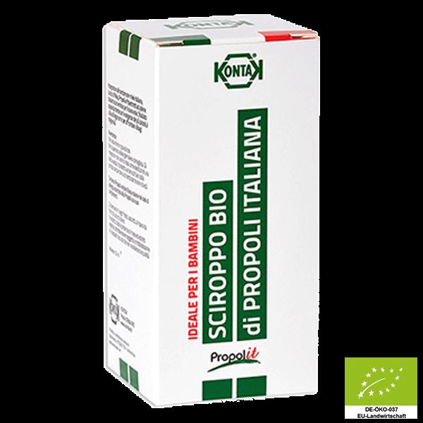 Propolit Sirup Balsamico BIO - Propolissirup ohne Alkohol - Ideal für Kinder ab 2 Jahre