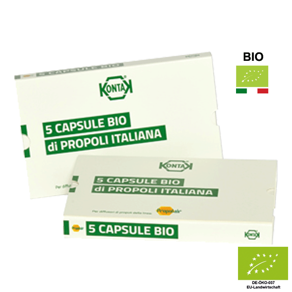 5 Propolairkapseln / Propolina BIO 100% - Propoliskapseln (IT-BIO-005)